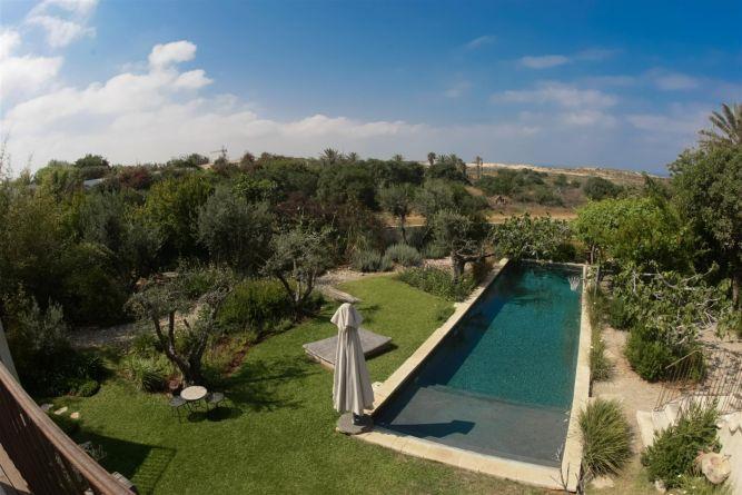 מבט על הגינה בעיצוב גני עמרם