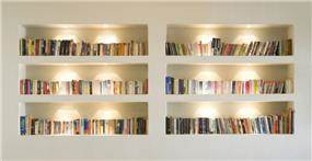 בית פרטי, ספרייה - Architecture and Design - נטע דוידי אדריכלים צילום יונתן בלום
