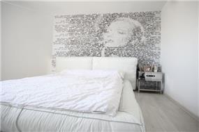 חדר שינה בפרויקט סי אנד סאן, בעיצוב אמיר שלח
