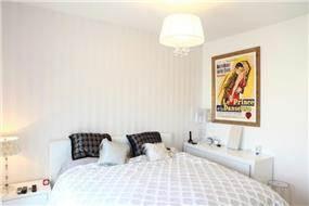 חדר שינה בדירת פנטהאוס בגוש הגדול, בעיצוב אמיר שלח