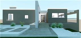 הדמיית חזית בית פרטי בהרחבה בקיבוץ - סטודיו Unique