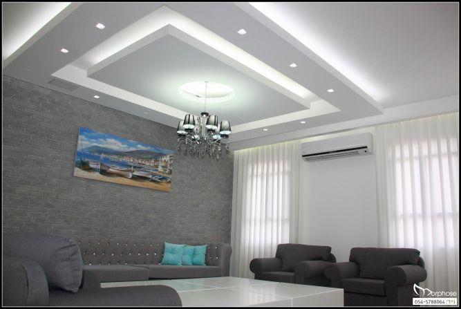 עיצוב סלון מודרני בבית פרטי