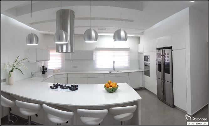 """מטבח מודרני מעוצב ע""""י סטודיו מורפוז"""