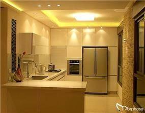 מטבח מודרני חם, בעיצוב סטודיו מורפוז