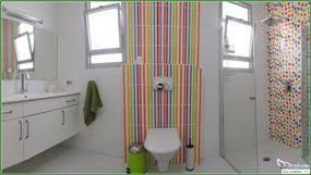 עיצוב חדר רחצה צבעוני, סטודיו מורפוז