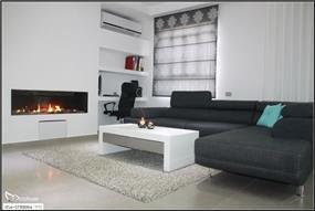 עיצוב פינת משפחה בסמוך למטבח מודרני, סטודיו מורפוז