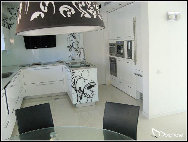 עיצוב מטבח מודרני לבן, סטודיו מורפוז
