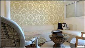 עיצוב סלון קלאסי עם קריצה רטרו, סטודיו מורפוז