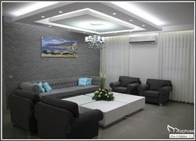 עיצוב סלון מודרני בבית פרטי, סטודיו מורפוז