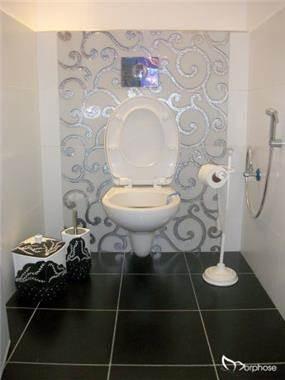 עיצוב שירותי אורחים בשחור לבן, סטודיו מורפוז