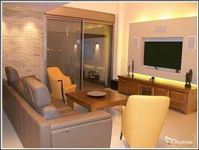 עיצוב חלל סלון מודרני חם, סטודיו מורפוז