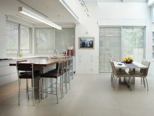 חלל מטבח ופינת אוכל, תכנון ועיצוב אדר' ליאת רז