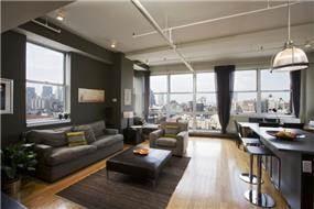 עיצוב מודרני לסלון בבית מגורים במנהטן- אטלס דרור אדריכלות ועיצוב