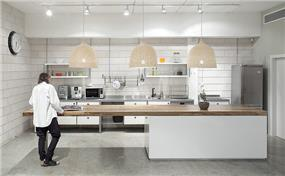 עיצוב מסבח בלופט בייתי עבור חברת EXP- אטלס דרור אדריכלות ועיצוב