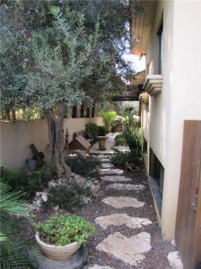 שביל צדדי לגינה אחורית. מירי גור אדריכלות ועיצוב פנים.