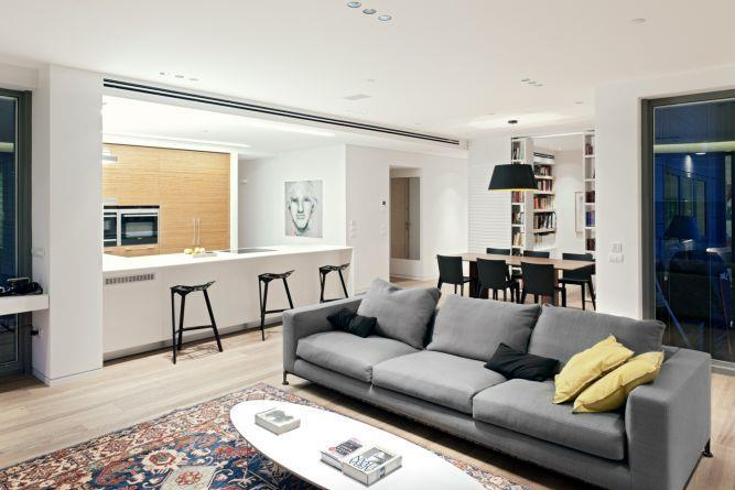 סלון מעוצב, GammaArc Group אדריכלים : יבגני צ'ולך ודניאל ברקובסקי