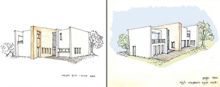 חזיתות בתים בתכנון