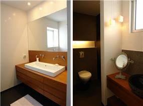 חדרי רחצה, עיצוב פנים ותכנון נגרות