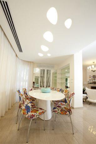 חדר אוכל בוילה בסביון, אילנה וייזברג I.V Design