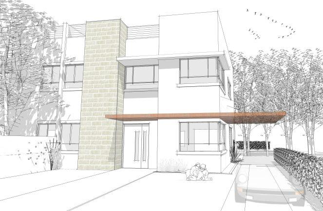 חזית בית פרטי, הדמייה - נורית זעירי אדריכלים