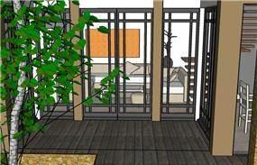 חצר פנימית - סתיו פרטוש- אדריכלות ועיצוב