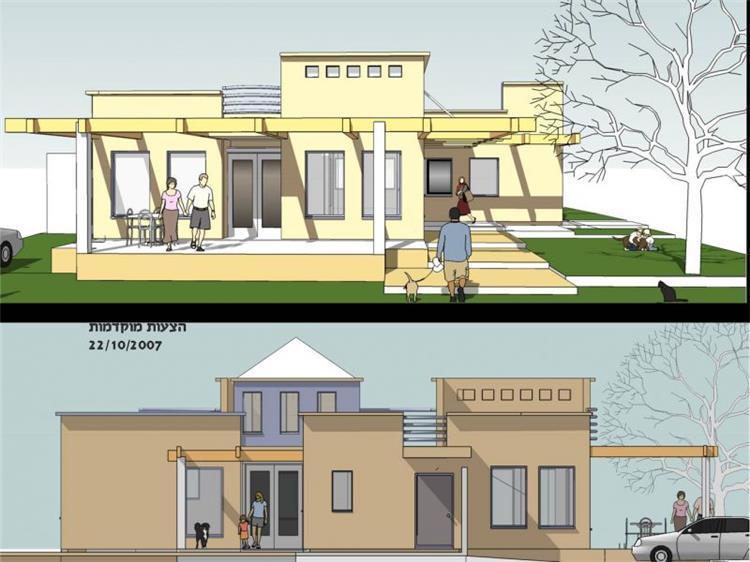 חזית בית פרטי, הדמיה - אלרוד אדריכלים