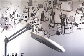 קיר מעוצב, LConcept, עיצוב פנים לוסי לשנסקי, לנה סמטנין