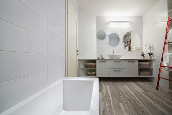 חדר אמבטיה, ענבר מנגד - תכנון ועיצוב פנים