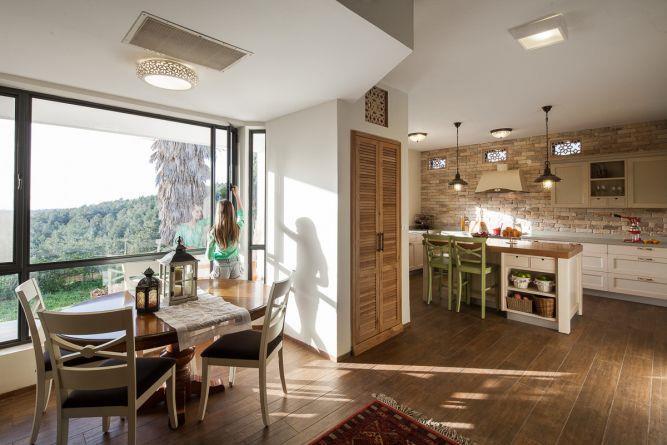 מטבח כפרי, ענבר מנגד - תכנון ועיצוב פנים