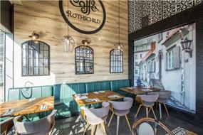 בית קפה מעוצב ברוטשילד- בן רזניאלי סטודיו לעיצוב פנים