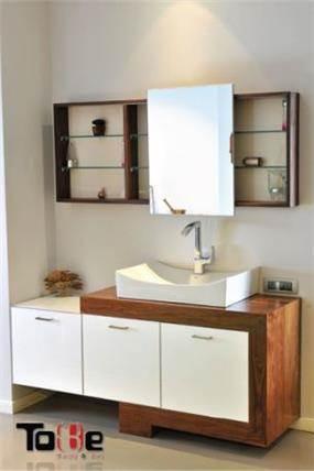 ארון אמבטיה עץ מלא, טובי מטבחים