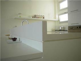 עיצוב בלבן של מטבח, תעוז אדריכלות ועיצוב פנים