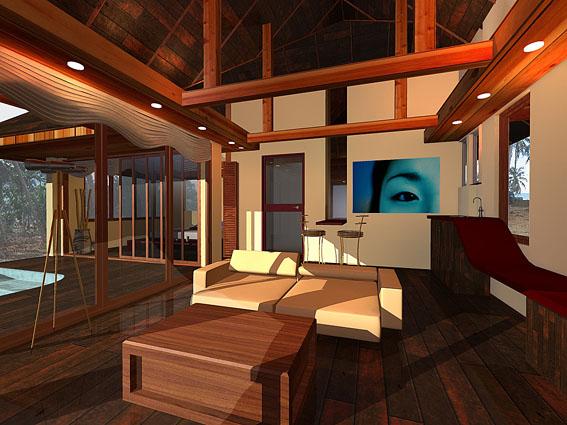 כפר נופש מודרני בשילוב בניה מסורתית בקוסאמוי - תים אדריכלים