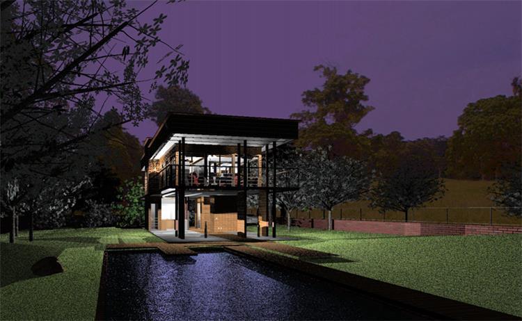 """תכנון דגמי בתים באוקינוס השקט - הדמיית לילה - פרוטו אדריכלים בע""""מ"""