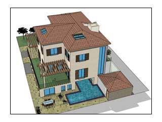 הדמיה של בית פרטי - יפתח הררי אדריכלים