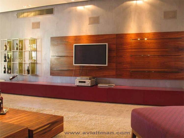 חדר טלויזיה - י. אלטמן עיצוב ותכנון פנים