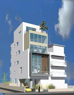 """בית דירות, זמנהוף, ת""""א - טל נבות ארכיטקטורה"""