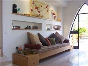 פינת ישיבה - אפולוניה אדריכלות תכנון ועיצוב.