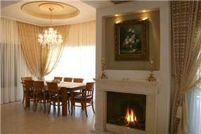 פינת אוכל אירופאית, בית פרטי, רעננה - אפולוניה אדריכלות תכנון ועיצוב.