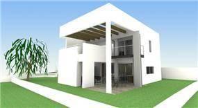 הדמייה - בית מודרני מינימליסטי