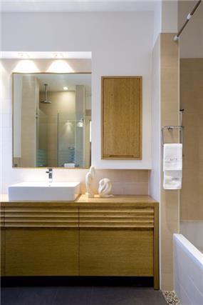 חדר אמבטיה, וילה, תל אביב - ברעוז מיטל-עיצוב ותכנון אדריכלי