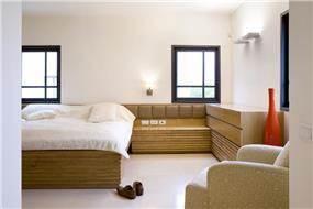 חדר שינה, תל אביב - ברעוז מיטל-עיצוב ותכנון אדריכלי