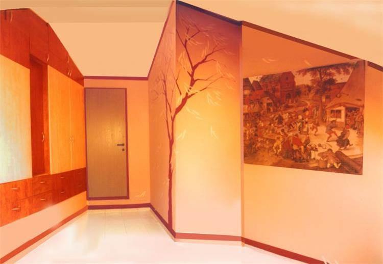 חדר, ארון, ציור קיר - אם-סטודיו