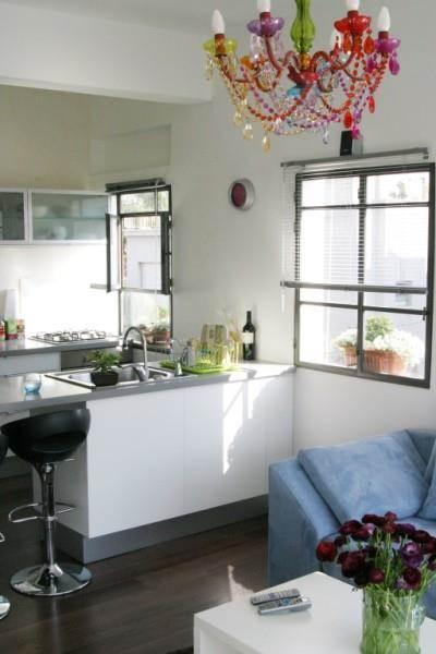 מטבחון, דירת סטודיו, תל אביב - ענת גפני- עיצוב פנים