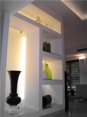 נישות גבס, בית פרטי, רעננה - אורי עשת עיצוב אדריכלי