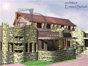 בית עם חומת אבנים - ספדי עמאד