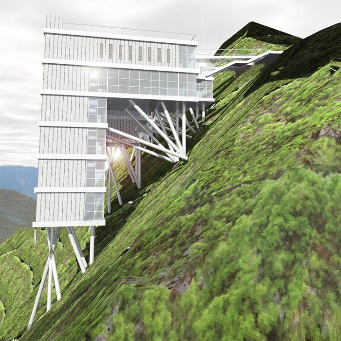 מלון אקולוגי - Geotectura