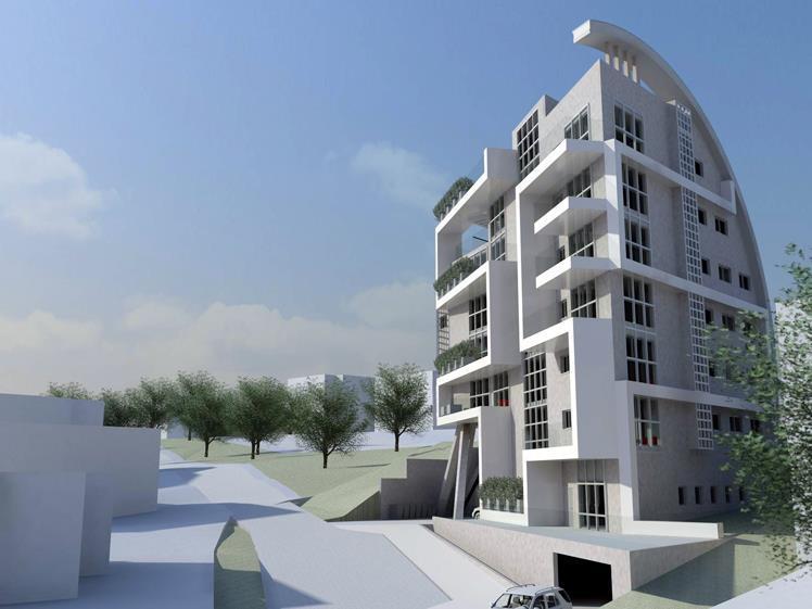 מבנה מגורים אקולוגי בחיפה - Geotectura