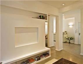 מבואת כניסה ובנייה בגבס - יעל אלגום - משרד לתכנון ועיצוב אדריכלי