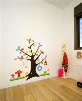 מדבקת קיר צבעונית בחדר ילדים, עיצוב לילך לויט